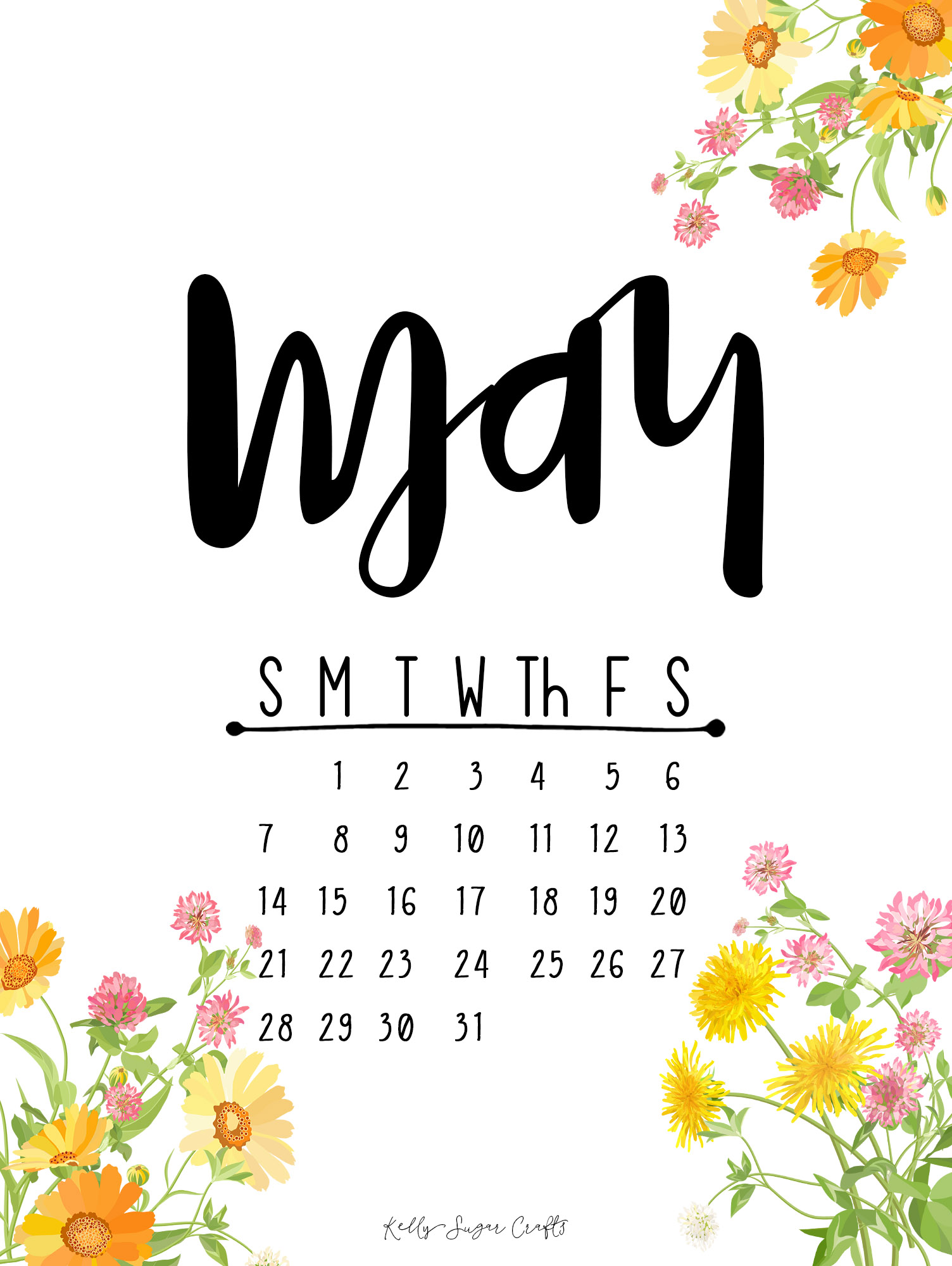 May 2017 Printable Calendar Wallpapers Kelly Sugar Crafts