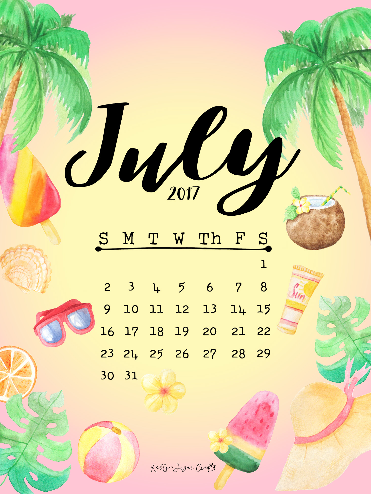 july 2017 calendar wallpapers kelly sugar crafts